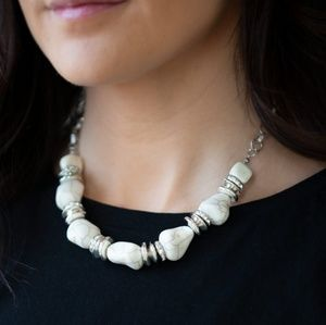 Stunningly Stone Age Necklace and Earrings